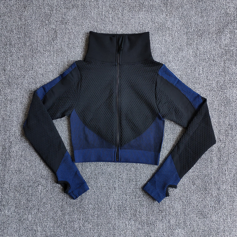 Yoga Top Vital Seamless Yoga Shirt Women Fitness Zipper Long Sleeve Workout Tops Gym Clothes Sportswear