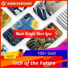 Luxury Marble Soft TPU Silicone Case for iPhone X Cover XR XS Max 6 6S 7 8 Plus 11 Coque Van Gogh Starry Night Art Everlast Love silicone phone case for iphone 8 7 6 6s plus x xr xs max soft tpu van gogh starry night cover for apple iphone 11 pro max coque