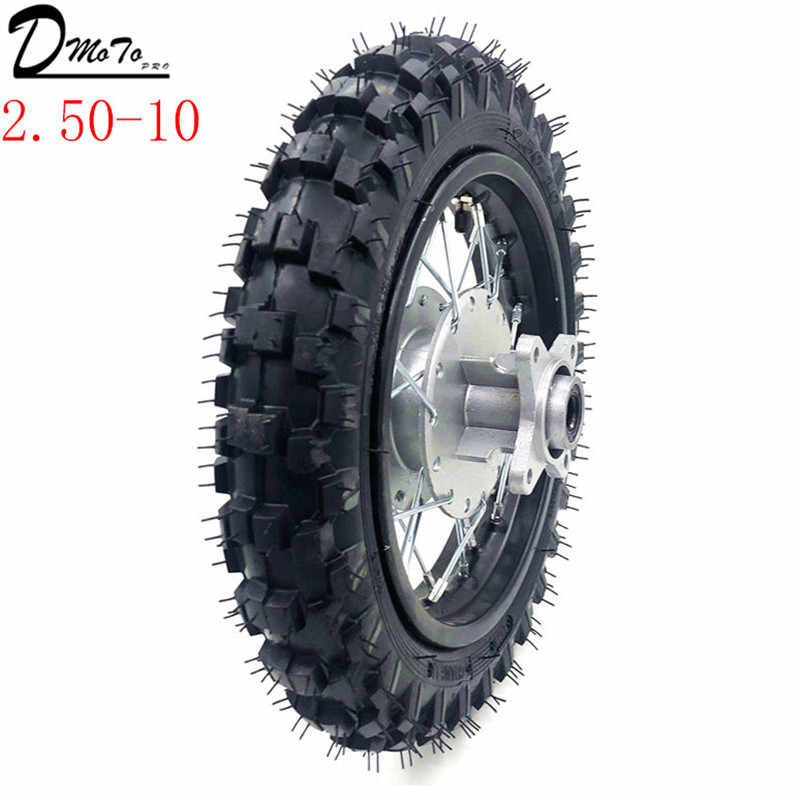 2 50 10inch Rear Tyres Steel Rims Drum Brake Wheels Rims Hub Crf50 Kayo Chinese Dirt Pit Bike Motorcycle Mini Bike Wheels Aliexpress