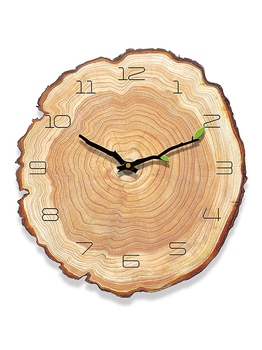 Creative Wooden Wall Clock Modern Stylish Mute Wall Clocks For Bedroom Thick Watches Living Room Watch Home Decor Clock II50BGZ