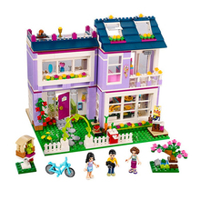 New Friends Series Emma's House Building Blocks Classic For Girl Kids Model Brick Toys Compatible With Lago 41095 Best Gift 342pcs my world series tree house in island model building blocks compatible legoed minecrafted village brick toys for children