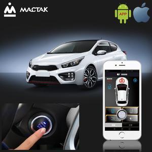 Мобильный телефон дистанционное автоматическое управление Индукционное автомобильное одно-кнопка запуска противоугонная система с вибра...
