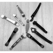 12 größen Edelstahl Zurück Clip für DIY Folding Tasche Messer Werkzeug DIY Zubehör Folding Messer Zurück Clip Halter