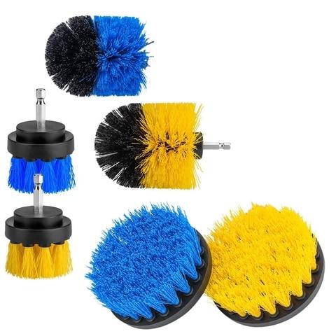 conjunto do acessorio da escova da broca de 6 pces jogo da limpeza das escovas
