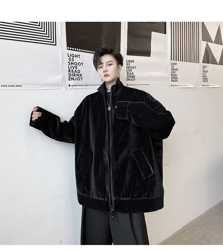 masculina retro hip hop estilo rua solta jaquetas roupas de dança