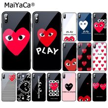 MaiYaCa Newest Love CDG Play Like Boys Tempered Glass Phone Case For
