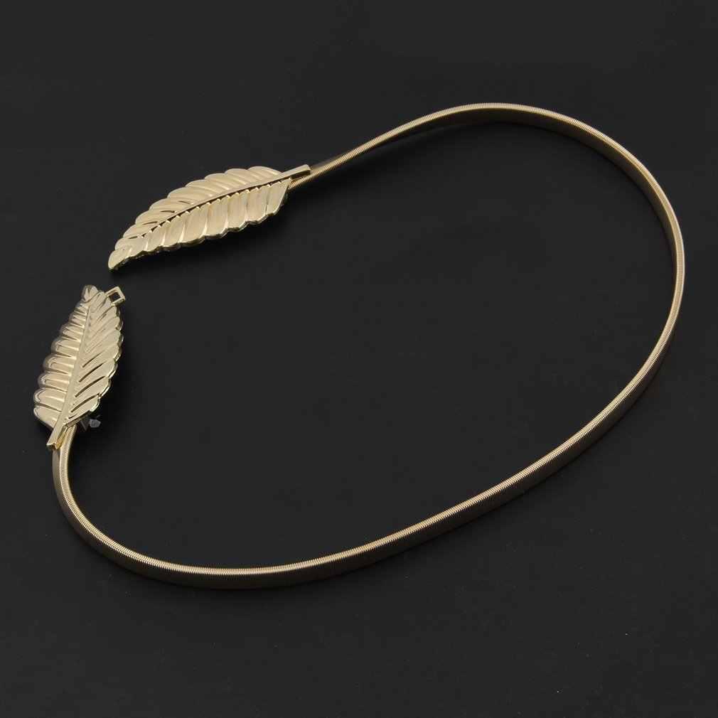 เข็มขัดรูปเข็มขัดโลหะ Cummerbund Clasp ด้านหน้ายืดเข็มขัดทองเงินยืดหยุ่นเข็มขัดเอว