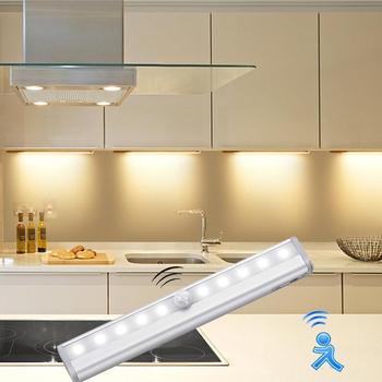Inteligentny na czujnik ruchu światła podszawkowe Led ciała czujnik ruchu kuchnia doprowadziły światła dla szafa szafka kryty kinkiety tanie i dobre opinie AIMENGTE PIR Motion Kitchen light Stop 30000Hrs Only work at Dark No battery inside