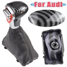 Gear-Shift-Knob Audi A4 Gaiter-Boot-Cover-Case Stick Carbon-Fiber Automatic Q5 Q7 Collar