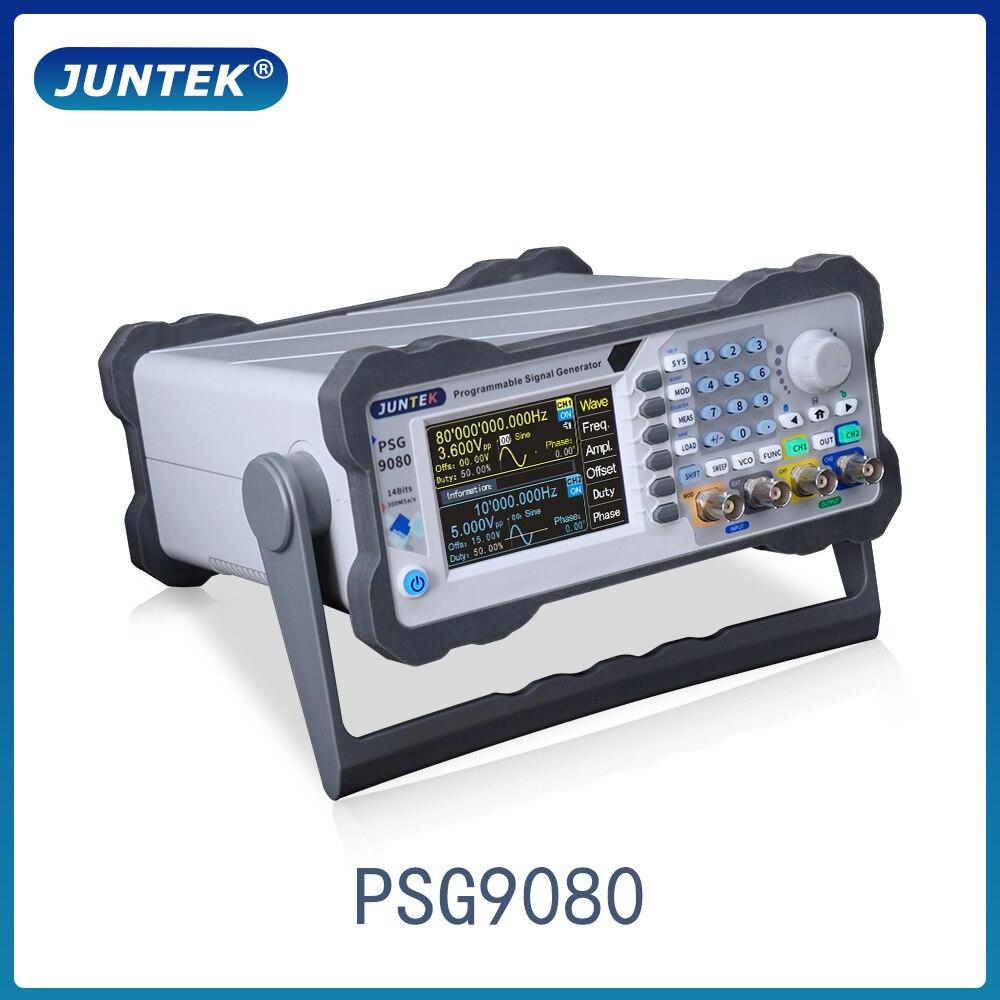 Программируемый двухканальный генератор сигналов JUNTEK DDS, цифровой измеритель частоты произвольной формы сигнала PSG9080 80M AM FM FSK