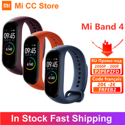 Original Xiaomi Mi Band 4 Bracelet 5 Color Wristband AMOLED Screen Heart Rate Fitness Tracker Bluetooth5.0 Waterproof Smart Band