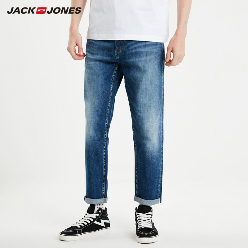 JackJones Men's Super Stretch Cropped Jeans Slim Fit Casual Menswear Streetwear 219132569