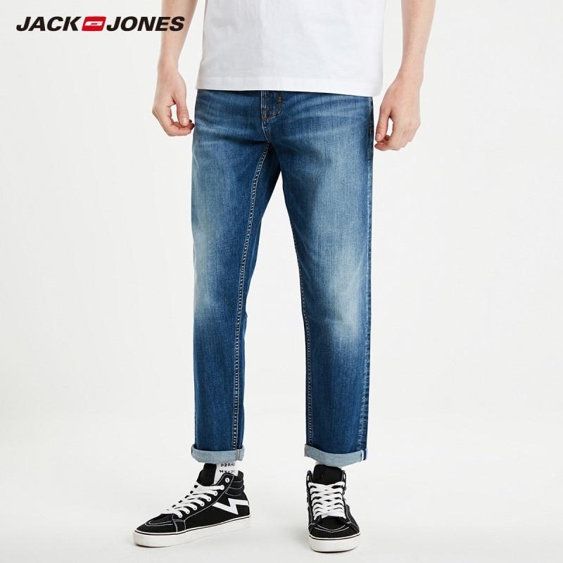 JackJones Men's Super Stretch Cropped Jeans Slim Fit Casual Menswear Streetwear 219132569