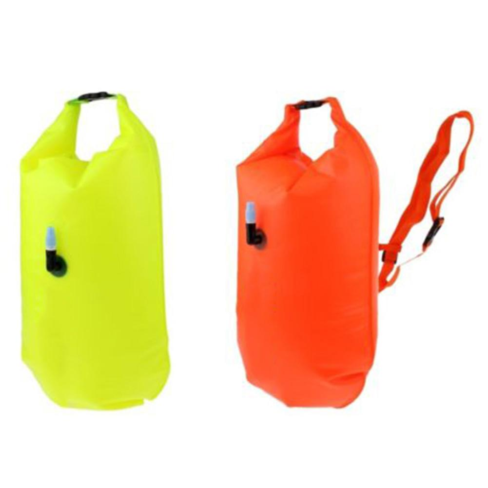 High Quality PVC Swim Buoy Dry Bag Adjustable Waterproof Wild Swimming Kayaking Fishing Surfing Inflatable Buoy Float Drybag