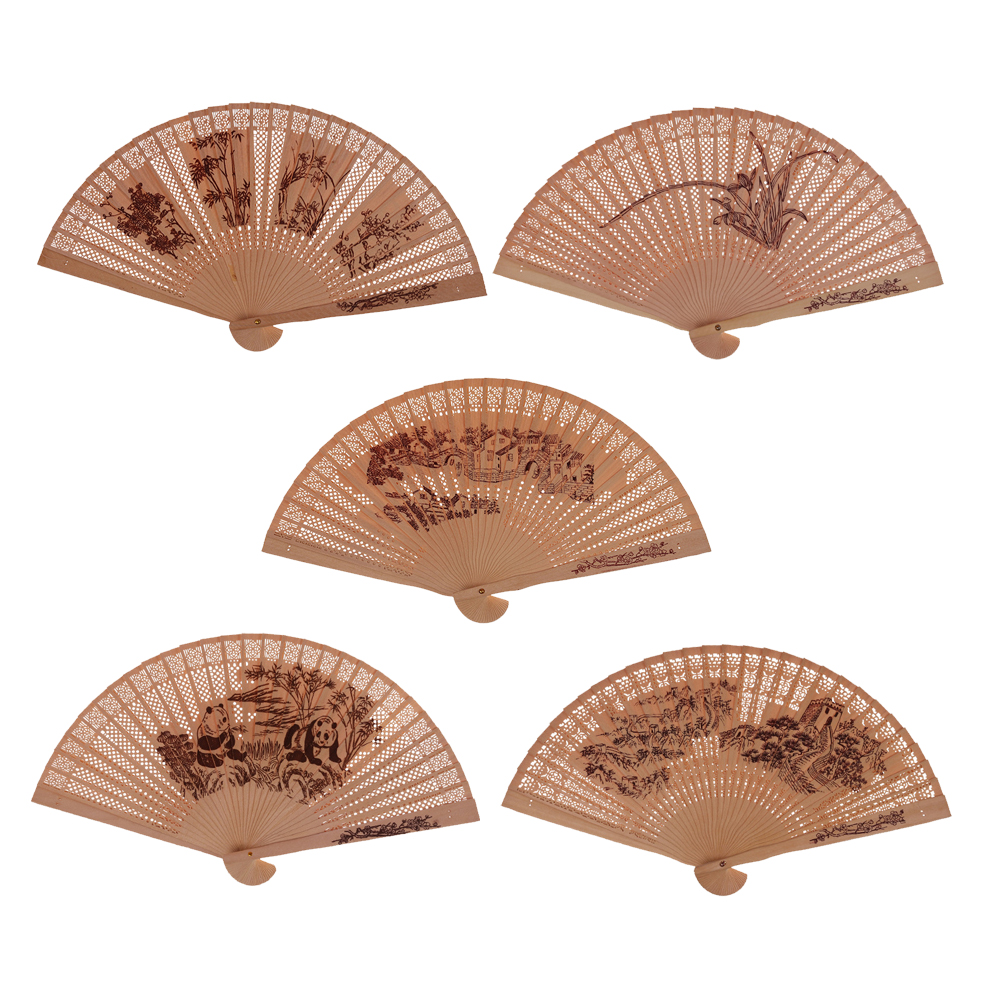 Chinese Japanese Folding Fan Original Wooden Hand Flower Bamboo Pocket Fan For Home Decor Decoracion Fiestas