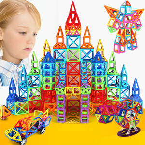 Новые магнитные блоки 400 шт., магнитные дизайнерские модели, Строительные строительные Образовательные Кирпичи, сделай сам, пластиковые маг...