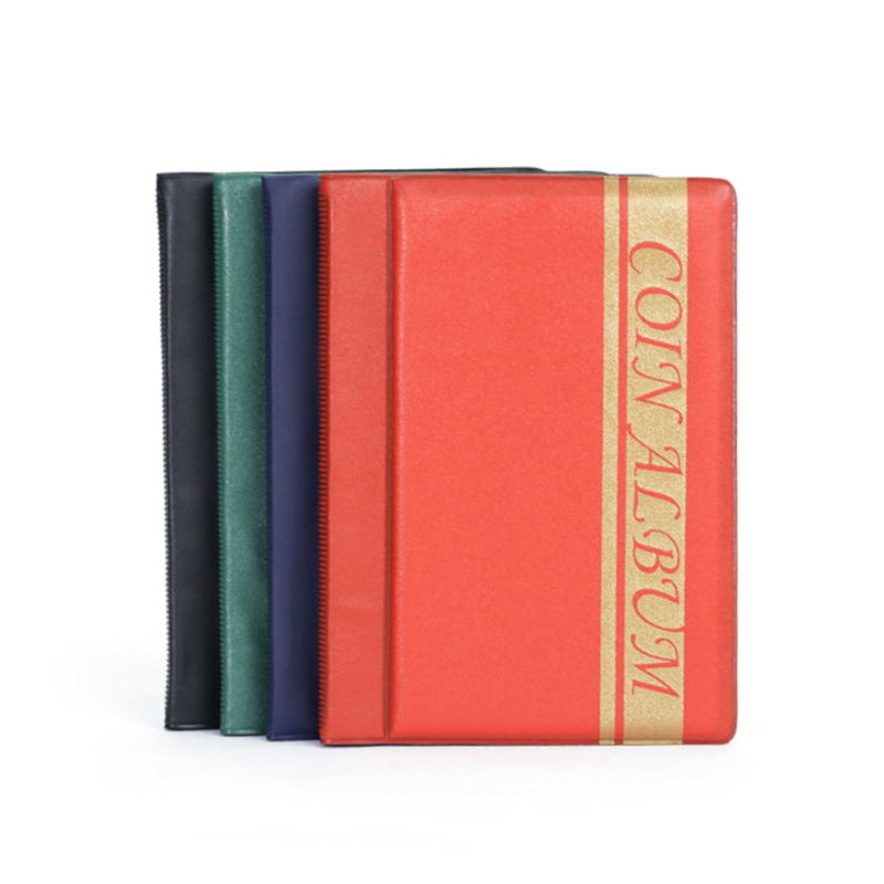 PU Leather Cover 120 Sheets Wallet Coin Album Portable Album Coin Penny Money Storage Book Case Holder File Collection Collectin