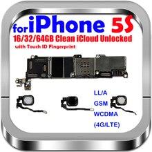 16gb 32gb 64gb placa mãe com/sem toque id para iphone 5S desbloqueado placa lógica do sistema de mainboard com microplaquetas