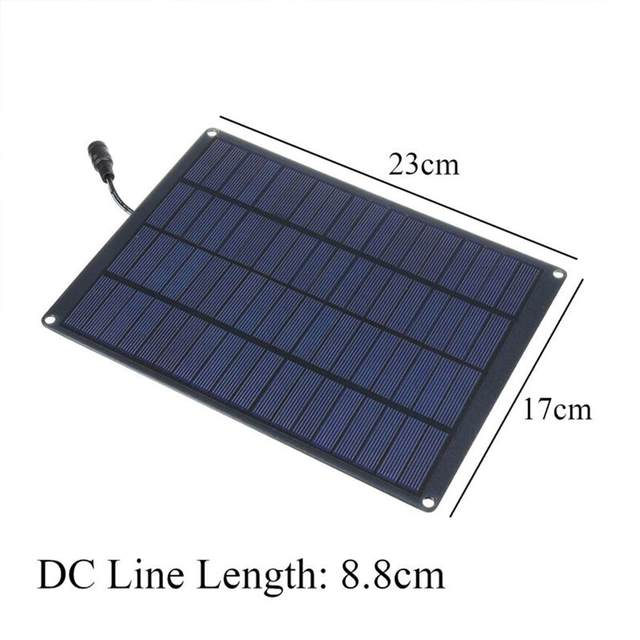 20W 12V 18V Solar Panel with battery Clip+10/20/30/50A Solar Car Charger Controller Solar Cells for Outdoor Camping Hiking 5