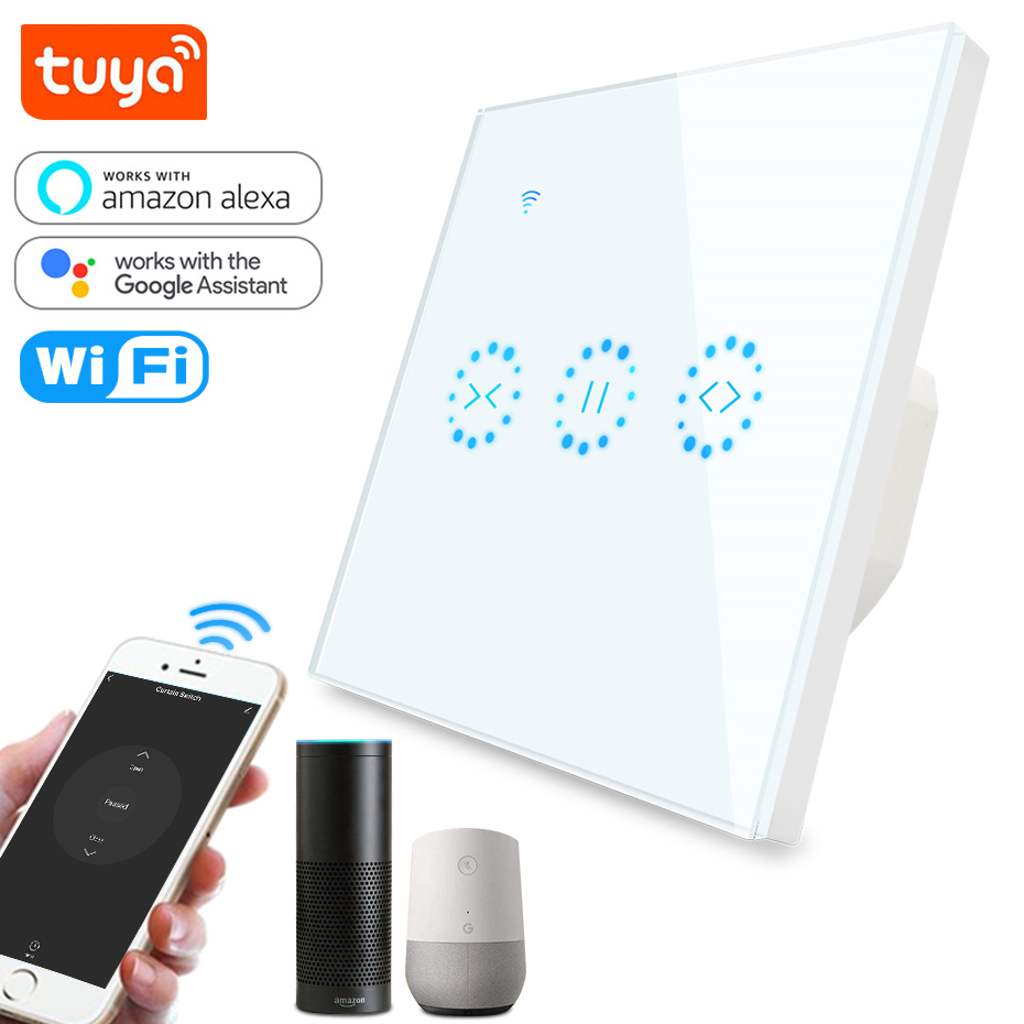 Tuya Smart Life WiFi Curtain Blind Switch for Roller Shutter Electric motor