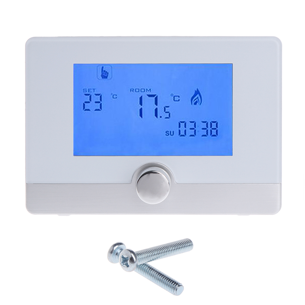 Programmable Digital Room Thermostat For Wall-hung Gas Boiler Heating System 5A Drop Ship Support