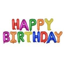 Ballons & acessórios auto inflar feliz aniversário balões banner bunting 16 Polegada letras folha balões decoração de aniversário