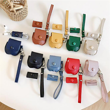 PU Leather Case For Apple AirPods1,2 Luxury Genuine Cover Airpods 1,2 Accessories with Strap and Winder