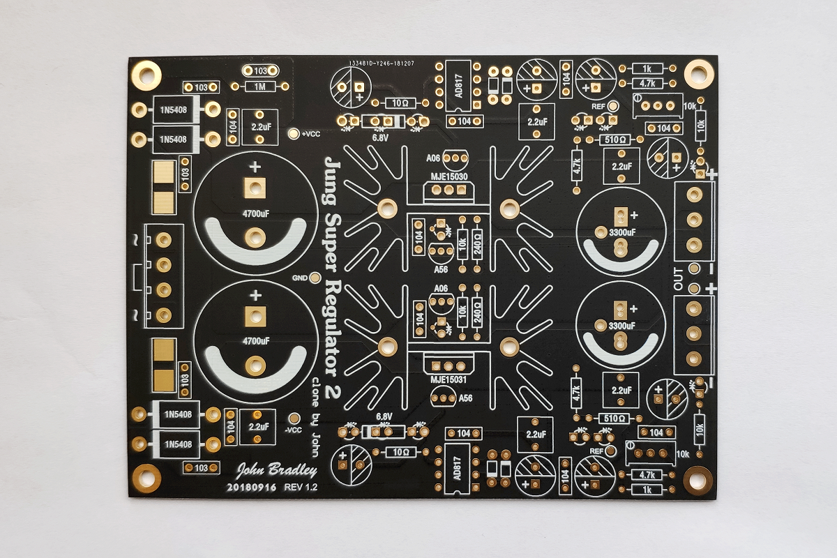 Jung Super Regulator Linear Power Board PCB Blank Board KSA5 Power Module Adjustable