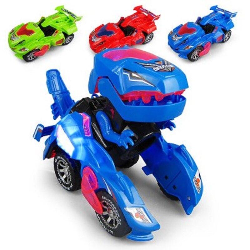 Новый Детский пазл Электрический меняющий форму динозавр rc автомобили с легким голосом HG-788 деформированный динозавр гоночный автомобиль