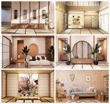 Yeele Japanse Stijl Fotografie Interieur Tatami Achtergronden Vinyl Fotografische Japan Indoor Thee Room Achtergrond Voor Foto Studio