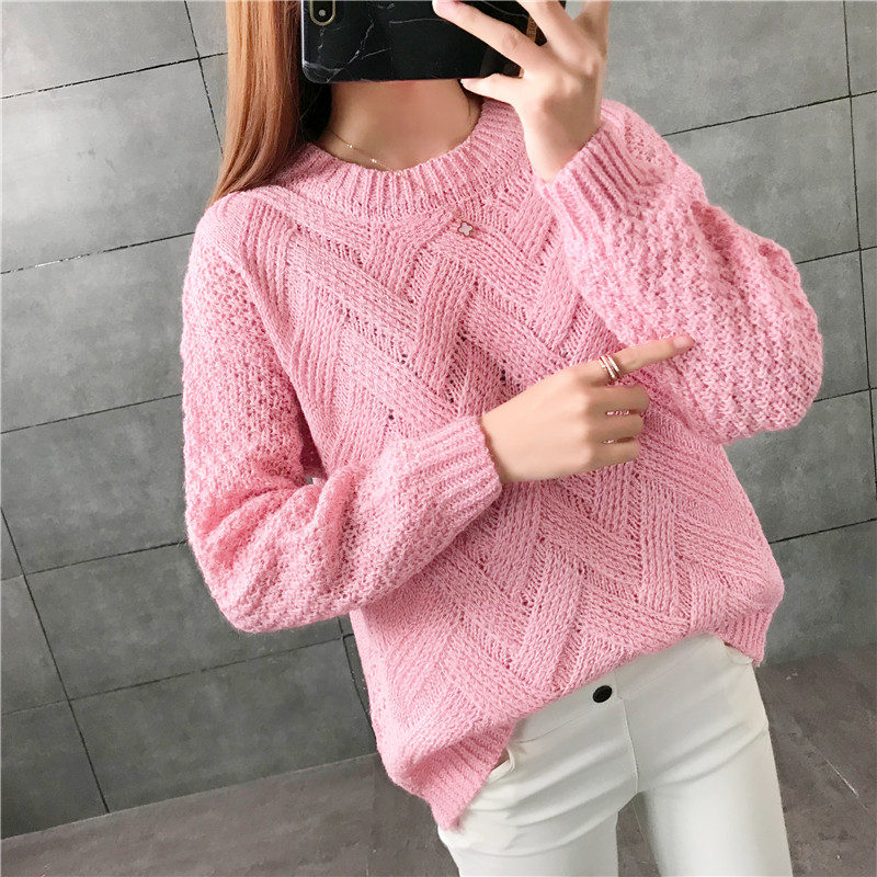 New  Fashion 2019 Women Autumn Winter  Embroidery Brand  Sweater Pullovers  Warm  Knitted Sweaters Pullover  Lady