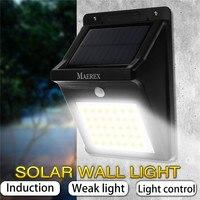 3-In-1 أضواء الشمسية في الهواء الطلق 35 المصابيح السوبر مشرق أضواء الجدار PIR محس حركة التحكم في الضوء مقاوم للماء IP65 أضواء أمنية