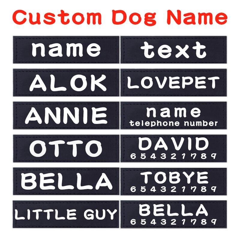 2 قطعة شخصية بولي PU الكلب اسم مخصص K9 الكلب تسخير تسمية ملصق مخصص علامة كلب تسخير طوق سترة مخصص تسمية الاسم