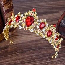 Винтажные тиары и короны для невесты повязка на голову с кристаллами