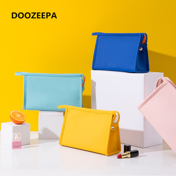 DOOZEEPA Women Make Up Makeup Bags Organizer Cosmetic Bag Candy Color Waterproof PU Portable Toiletry Travel Pouch - discount item  31% OFF Special Purpose Bags