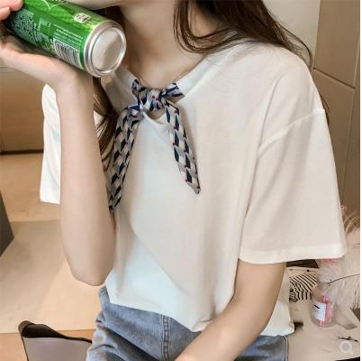 Loose size New Summer T Shirt Women White Elasticity Woman Clothes Oversize Tops New Tshirt Maxi Female Short Sleeve Tee White 4