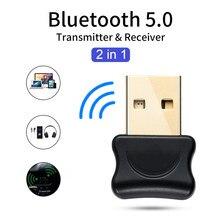 Adaptateur Bluetooth 5.0 USB, transmetteur récepteur pour Pc, ordinateur portable, écouteurs, imprimante Audio, Dongle récepteur de données