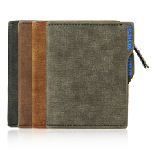 Wallet 2019 Men's Zippered Wallet Small Wallet New Design Thin US Dollar Pure Cortex Quality Good Durability Discount стоимость