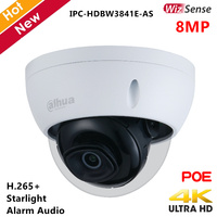 Dahua WizSense Series 8MP Starlight IP Camera H.265+ Smart IR 30m 2.8mm Lens Support 256G SD Card Security camera for IP System