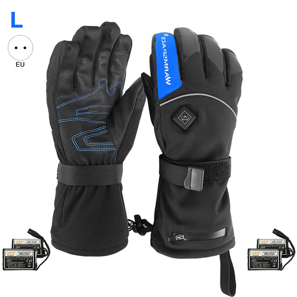 Electric Battery Heated Gloves Thermal Heat Gloves Battery Powered Electric Heated Ski Bike Motorcycle Mittens For Men And Women