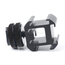 3 Hot Shoe Mount Adapter Dual Screws Stand Holder for DSLR Camera Flash Light