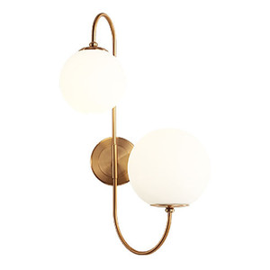 Image 5 - Modern nordic Glass Meta black/gold ball Retro Vintage Wall lamp E27 Loft for cafe bedroom foyer