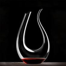 Роскошный U образный кристалл красное вино рога Стекло Графин Аэратор Графин Pourer Новые Вечерние Рождество