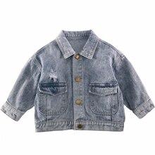 ¡Novedad de 2020! Chaqueta vaquera para niñas, ropa de primavera para niños, Prendas de Vestir Vintage para niños, Tops de bolsillo, abrigo rompevientos