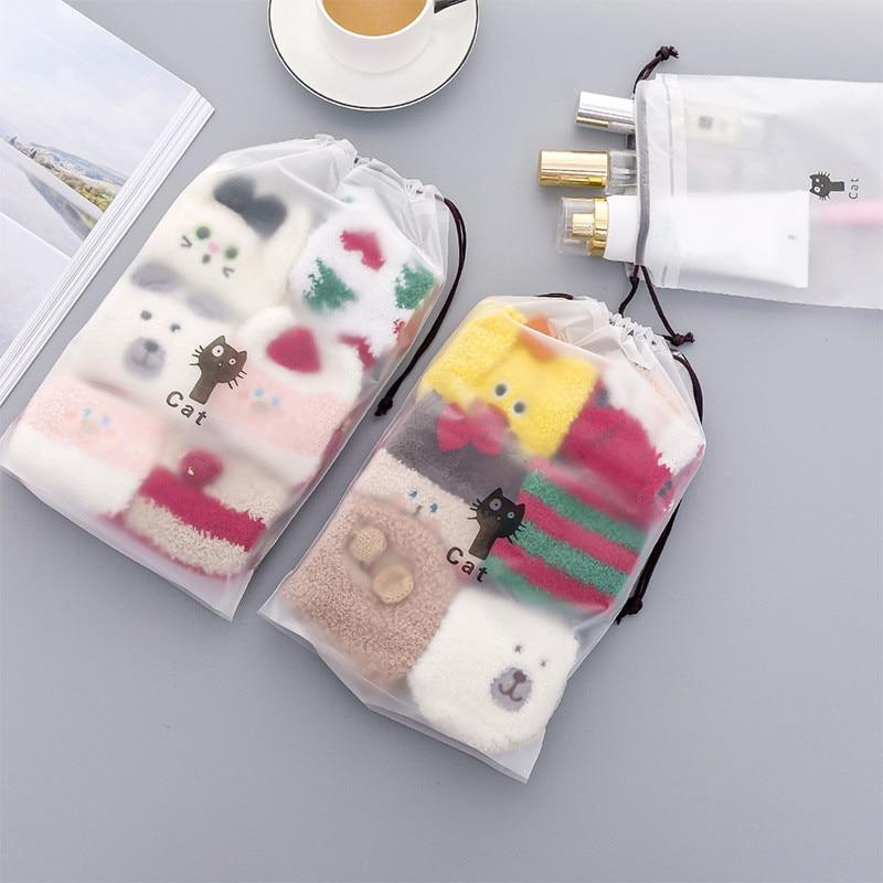 VOGVIGO Women String Makeup Drawstring Bags Organizer Storage Animal Cats Cosmetic Bag Travel Case Pouch Toiletry Wash Beaut Kit