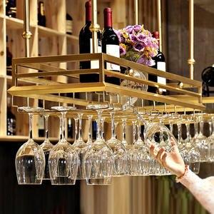 Storage-Rack Hanging Kitchen-Bar Organization Stainless-Steel Standing-Cup Ceiling-Shelf