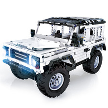 טכני סדרת 553 PCS Defender RC רכב דגם SUV DIY בניין בלוק רכב בריק צעצועים לילדים תואם