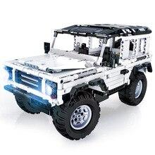 Teknik serisi 553 adet defans RC araba modeli SUV DIY yapı taşı araba tuğla oyuncaklar çocuklar için uyumlu