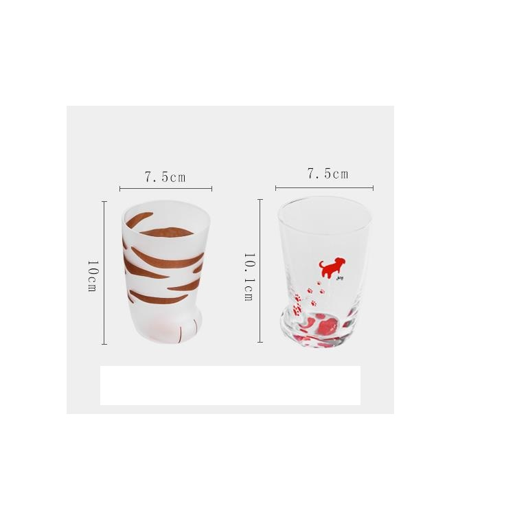 H4d216fca0d4e4aec9256e33bce446df6w - 350ml Mug Heat-resistant Glass Cat Cup Tiger Paws Office Matte Cat Paws Creative Milk Coffee Cup Cute Children Drink Bottle