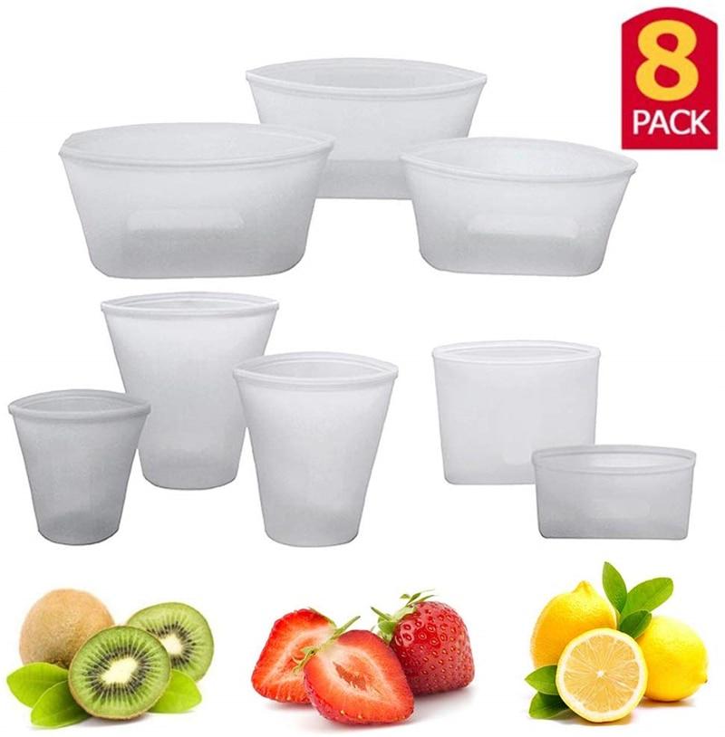 灰色 杯子碗袋子8件套 T9